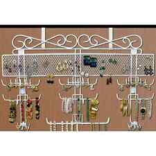 Jewelry Organizer Hang Earring Ring Display Necklace Wall Cabinet Door Hook Wire