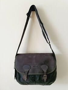 Barbour 125 Tarras Cotton & Wax Leather Sage Green Mens Cross Body Bag