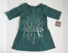 Tea Collection tunic size 3T dark teal green sparkle long sleeve NEW