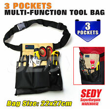 NEW Multi Purpose Tool Bag Pouch Stitched Belt Pockets Carpentry Handyman 90501