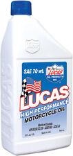 LUCAS HIGH PERFORMANCE Motorcycle OIL 70 WT Quart 10714 58-5243