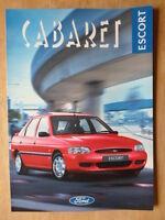 FORD ESCORT CABARET orig 1995 1996 UK Mkt sales brochure