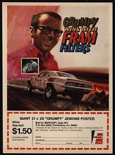 1970 GRUMPY JENKINS Wins w/ FRAM & CHEVROLET CAMARO SS Drag Race Car VINTAGE AD