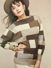 FL90 - Knitting Pattern - Lady's DK Attractive Striped  Patterned Jumper