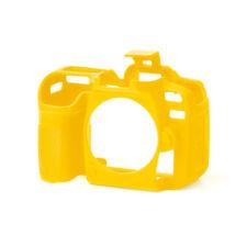 EasyCover Pro Piel de silicona caso de armadura de cámara para adaptarse a amarillo Nikon D7500 DSLR