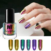 NEE JOLIE 3.5ml Nail Polish Purple Chameleon Black Base Needed Nail Art Varnish