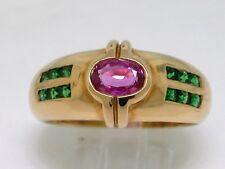 Exclusiver Saphir Tsavorit Ring 750 Gelbgold 18Kt Gold