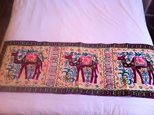 FOLK ART  Indian Lovely ETHNIC HAND  Embroidery Fabric WALL HANGING