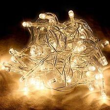 40 LED Fairy Christmas Haloween Wedding Lights 4m Warm White & Battery Operated
