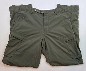 REI Mens Cargo Pants 32x30 Green FIshing Hiking Travel Nylon