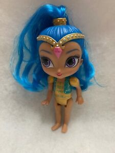 """Fisher-Price Shimmer & Shine Wishes Mini Doll 5"""" Genie Blue Hair"""