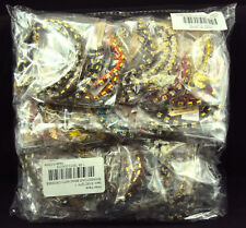 Rhinestone Bracelets Single Strand ~ Wholesale Lot 72 Pcs ~ Assorted Colors!