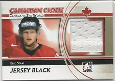Eric Staal 2011-12 ITG Canada vs The World Canadian Cloth Black Jersey # CCM25