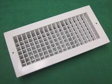 2 WHITE HVAC SUPPLY OUTLET VENT GRILLE REGISTER 14 x 6 OPPOSED BLADE ZONE DAMPER