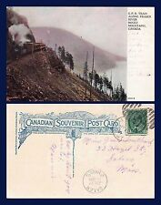 CANADA BRITISH COLUMBIA CPR TRAIN ALONG FRASER RIVER 1907 TO SALEM MASSACHUSETTS