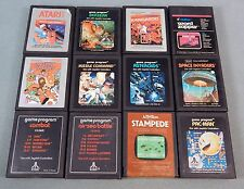 ATARI 2600 GAME SET OF 12 Berzerk Kangaroo Crystal Castles Pac-Man Stampede