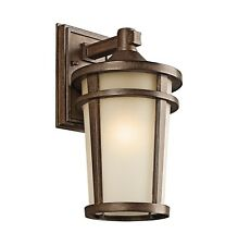 Kichler Lighting 49072Bst Atwood Outdoor Wall 1 Light, Brown Stone