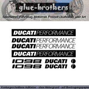 DUCATI 1098 Aufkleber Set Farbauswahl Motorrad Bike Sticker Dekor Decal