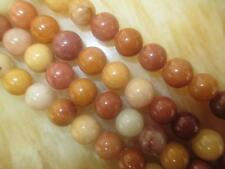 8mm Yellow Kunzite Round Gemstones Loose Beads 15''##HK1009