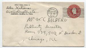 1931 Campbell Ohio international machine cancel 2ct circular die PSE [5775.205]