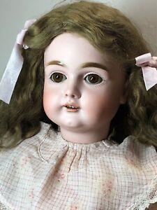 """23.5"""" Antique Kestner Bisque Doll Germany 167 H 12 Brown Sleep Eyes Beautiful S3"""