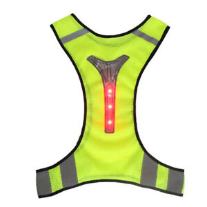 High Visibility Reflective Safety Fluorescent Mesh Vest Running Cycling Utility
