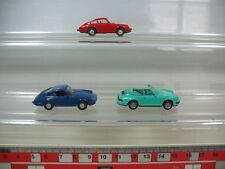 N329-0, 5# 3x wiking h0 modèles porsche: 1x Carrera 4 cabriolet, 2x 911 C