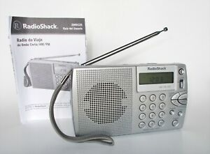 WORKING RadioShack 20-125 AM FM Shortwave Travel Portable Radio w/ 2 Manuals