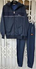 ELLESSE FULL TRACKSUIT HOODIE JACKET AND BOTTOMS SIZE XS 8 NAVY BLUE WORN ONCE