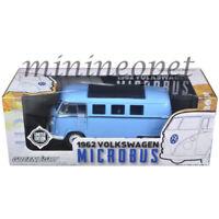 GREENLIGHT 12852 B 1962 VW VOLKSWAGEN MICROBUS VAN 1/18 DIECAST MODEL BLUE