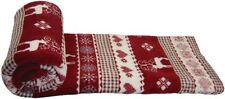 Couvre-lit rouges en polyester