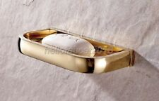 Gold Color Brass Wall Mounted Soap Dish Holder Bathroom Accessories lba847