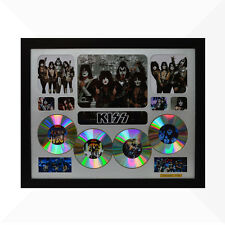 KISS Signed & Framed Memorabilia - 4CD - Silver - Limited Edition