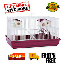 Deluxe Hamster & Gerbil Cage with exercise wheel, platforms, houses and ladders