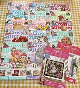 Huge Bundle Of 14 Cross Stitch Magazines Plus Free Charts