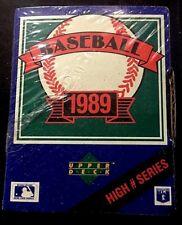 1989 UPPER DECK HIGH NUMBERS SERIES FACTORY SEALED SET