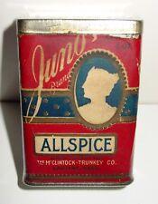 Juno Brand Allspice Spice Tin - McClintock-Trunkey Co. - Spokane, WA