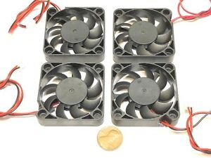4 Pieces 12V 5010 2 Pin Computer fan 50MM 5CM pc cooling cool Replacement A5