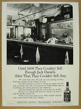 1991 Jack Daniel's White Rabbit Saloon bar photo UK vintage print Ad