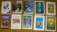 Lot of 10 Audiobooks on Cassette Tape-Fiction ~ Angela Huth, P.G. Wodehouse, etc