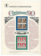 #2514-5 25c Christmas 1990 USPS#358 Commemorative Panel