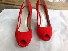 Karen Millen Red Suede Shoes