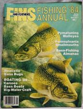 FINS AND FEATHERS FISHING ANNUAL SPECIAL ISSUE MAGAZINE 1984 VINTAGE
