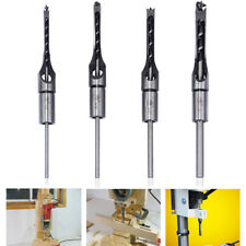 "4Pcs 1/4""-1/2""  HSS Square Hole Saw Mortising Chisel Twist Auger Drill Bits Set"