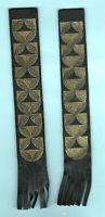 2x Geometric Leather Bookmark Black Gold Symbol Circle Birthday Gift Him Man Lot