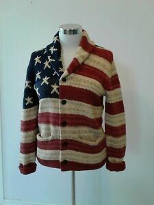 Denim & Supply Ralph Lauren Men US American Sweater sweatshirt cardigan jacket L