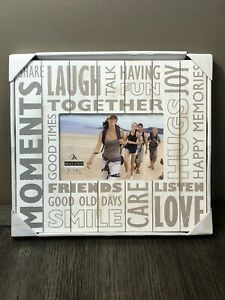 Malden Moments Laugh Together White 4 x 5 Picture Frame Beach Cottage Chic