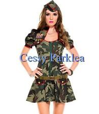 Sexy Army Brat Military Camouflage FBI Defence Force Uniform Costume
