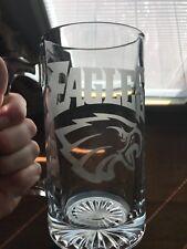 HUGE Philadelphie Eagles Etched Beer Mug GLASS glasses sports fans - football