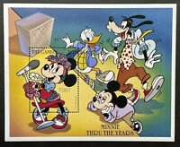 GAMBIA MINNIE THRU THE YEARS DISNEY STAMPS SS MNH 1997 MICKEY MOUSE GOOFY DONALD